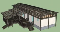 The Best Self-Supported Mobile Home Roof Over Designs - Modern Mobile Home Roof, Mobile Home Exteriors, Mobile Home Repair, Mobile Home Renovations, Mobile Home Makeovers, Mobile Home Living, Remodeling Mobile Homes, Home Remodeling, Mobile Home Addition