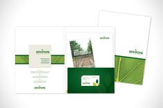 Environs Nursery Print Design #design #logo #blonde #marketing #advertising #business #folder #corporate #trees #brochure #card #catalogue