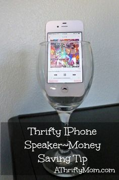 GREAT TIP.... thrifty iphone speaker, #iphone,  #iphonetricks, #iphonetips,#lifehacks, #speaker, #glass, #thriftytips