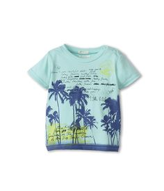 United Colors of Benetton Kids Boys Palm Tree Screen Tee (Infant)