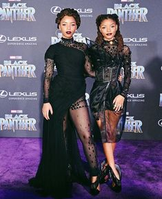 Chloe and Halle at the Black Panther premiere