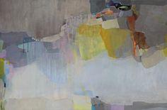 """Under the Surface: <br /> Acrylic on canvas<br /> <br /> 36x24""""H by Lina Alattar"""