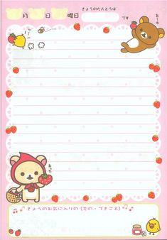 cute Rilakkuma diary notepad with strawberries 3