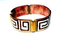 Altes Armband mit Emaille Emaill  (von Schibensky ?) - 16,5 cm / Um 1960