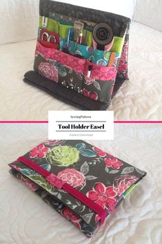 Sewing Pattern for Crafting Tool Holder Easel and Organizer | Keeps all your tools organized and easy to access. #ad #sewingpattern #sewing #pattern #organizer #craftorganizer #sewingorganization #toolholder