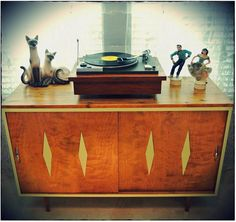 """Mid Century Inspired Danish Modern TV Stand Credenza Entertainment Center 48"""" 