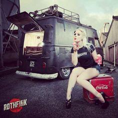Rothfink #vw #volkswagen #vdub #vag #slammed #photography #vwgirl #pinup #girl #thelowandslow #lownslow