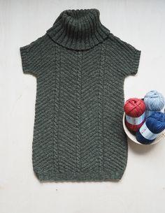 Messuneule: Holkkihihainen kohoneuletunika Novita Duo | Novita knits Turtle Neck, Diy Crafts, Knits, Knitting, Model, Sweaters, Patterns, Design, Create
