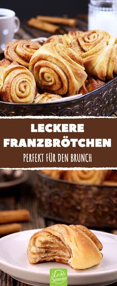 the Franzbrötchen easily yourself. Perfect for brunch. -Bake the Franzbrötchen easily yourself. Perfect for brunch. Brunch Recipes, Cake Recipes, Snack Recipes, Brunch Food, Desserts Sains, Bon Dessert, Free Fruit, Cinnamon Recipes, French Toast Bake