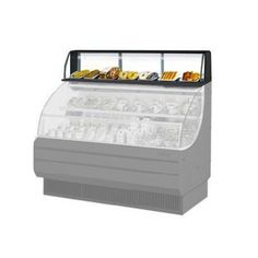 """Turbo Air TOMD-30-LB 28"""" Top Dry Display Case for Turbo Air TOM-30-LB Low Profile Open Display Case - Black"""
