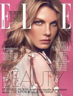 Angela Lindvall - Elle Magazine Cover [Russia] (March 2014)