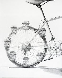 Stories, Fairytales and Weird Histories by Priscilla Tey, via Behance Bicycle Drawing, Bicycle Art, Cool Artwork, Amazing Artwork, Drawing Sketches, Drawings, Strange History, Arts Ed, Ap Art