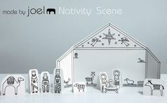 Paper City Nativity Scene