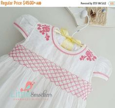 32d11a58a7e3 12 Best hand smocked baby dresses in white images in 2017 | Smocked ...