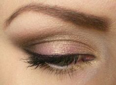 pink and gold eyeshadow