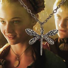 Game of Thrones Sansa's Dragonfly Necklace