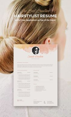 Sample Resumes For Hairstylist Cosmetologist Hairdresser