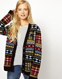 Fred Perry British Knitting Fairisle Cardigan