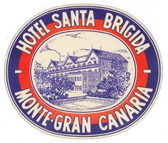 Vintage hotel luggage label from Gran Canaria
