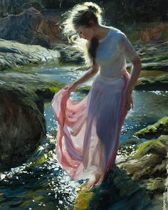 Gallery of artist Vladimir Volegov, portraits of very beautiful women. Paintings I Love, Beautiful Paintings, Art Paintings, Woman Painting, Figure Painting, She Walks In Beauty, Classical Art, Russian Art, Portrait Art