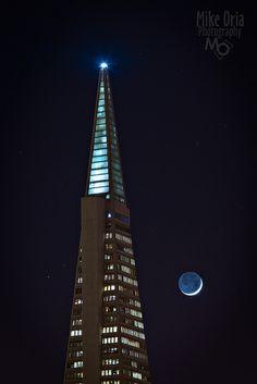 Tower  Moon, Transamerica, San Francisco, California  http://georgiapapadon.com/