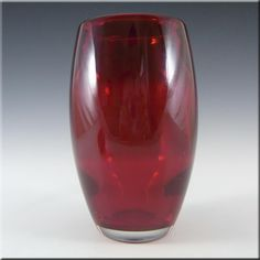 Whitefriars/Baxter Ruby Red Glass Ovoid Vase 9587 - £30.00