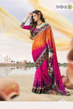 Brijraj Exclusive Multicolor Saree