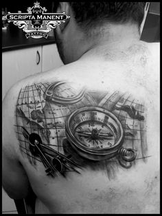 Map & Compass tattoo