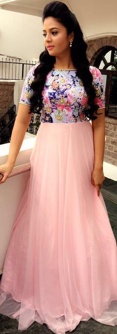 Pretty as petal !!!! Lovely sreemukhi in our Designer Sony Reddy Ensemble babypink fairy look pretty To place order mail us at:- Sonyreddy24@gmail.com Call or whts app:-8008100885 29 August 2016