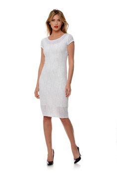 Rochie mulata alba RLN45 -  Ama Fashion Dresses For Work, Fashion, Moda, Fashion Styles, Fasion