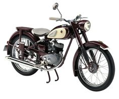 "YAMAHA YA 1 (1955) ~ ""Red Dragonfly""  First Yamaha motorcycle"