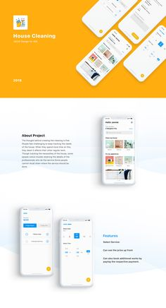 House Cleaning iOS App – Micro Interaction on Behance - Design Poster Design App, App Ui Design, Mobile App Design, Web Design Company, Interface Design, Mobile Ui, Wireframe Design, Android Design, Ios App
