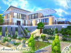 Armenia Modern 21 house by Devirose at TSR via Sims 4 Updates