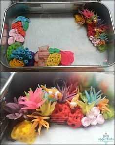 Miniature Coral Reef Tin WiP by Bon-AppetEats on DeviantArt Polymer Clay Fish, Polymer Clay Kunst, Polymer Clay Miniatures, Fimo Clay, Polymer Clay Projects, Polymer Clay Charms, Polymer Clay Creations, Resin Crafts, Polymer Clay Jewelry