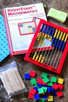 RightStart Math homeschool curriculum - Montessori inspired hands on math program