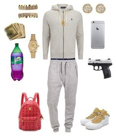 """((Studio Time))"" by leonar-287 ❤ liked on Polyvore featuring Polo Ralph Lauren, Boulezar, Rolex, Jamie Wolf, MCM, men's fashion and menswear"