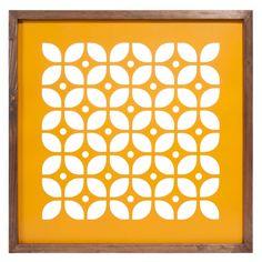 Cuadro de metal amarillo 50 x 50 cm CUT SEVENTIES