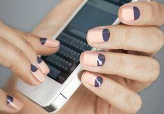 Halfmoon nails (Unhas meia lua)