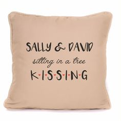 Personalised Gift Girlfriend Boyfriend Pillow KISSING Design Cushion with Pad Personalised Gifts For Girlfriend, Personalized Gifts, Boyfriend Pillow, Sitting In A Tree, Kissing, Girlfriends, Cushions, Throw Pillows, Modern