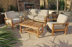 6 DIFFERENT TYPES OF TEAK WOOD PATIO FURNITURE  1. Loungers - People like to spend hours on their patio for fresh air coffee and a new book to read. Lounger will be nice additional for patio where you can have relaxing time on most stylish and valuable outdoor furniture. Teak wood makes perfect material for these loungers with some cushions on it. 2. Deep Seating - Deep seating using teak wood furniture will be perfect pieces on your patio. 3. Benches - It will be a perfect place to sit on…