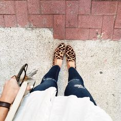 Never been much of a loafer person until I met this pair . SO comfy and somehow go with everything in my wardrobe . Also loving a classic white shirt  leopard right now  || Get the outfit details via @liketoknow.it www.liketk.it/28JQk #liketkit by laurenkaysims