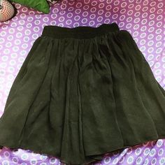 Olive AA chiffon skirt Size S fits M bought for $38 American Apparel Skirts