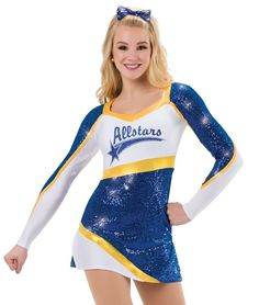 - Fierce Colors: 52 Red, 53 Royal, 80 Gold, TrueColors by A Wish Come True Cheerleading Uniforms, Cheer Uniforms, Cool Costumes, Dance Costumes, Cheer Pom Poms, Cheerleader Costume, Cheer Dance, Dance Stuff, Team Wear