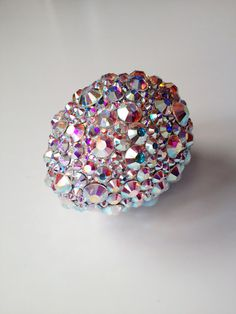 Rhinestone Eggs - The Crafts Dept. Next year, but maybe with wooden eggs!