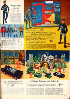 Sears 1966 Christmas Catalog page 523 Gi Joe, Childhood Toys, Childhood Memories, Vintage Advertisements, Vintage Ads, Sears Toys, 1960s Toys, 1970s, Toy Catalogs