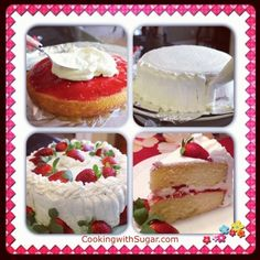 Sugar's Delicious Strawberry Whipped Cream Cake – An Ultra Rich Strawberry Shortcake  |  Cooking with Sugar