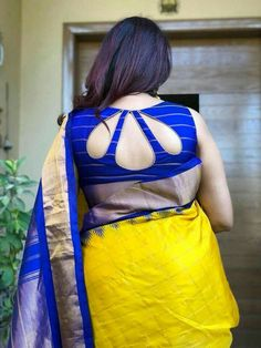 A Completely Last Minute Rakshabandhan Outfit Idea:-Awesomelifestylefashion - terrariumworld Indian Blouse Designs, Blouse Back Neck Designs, Cotton Saree Blouse Designs, Simple Blouse Designs, Stylish Blouse Design, Sari Bluse, Designer Blouse Patterns, Mary Janes, Ideias Fashion