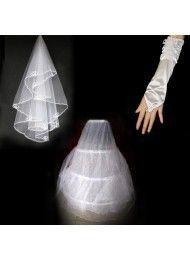 Witte bruiloft sluier bruidssluier