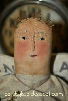 Abigail Angel... A Shabby Prim Angel Folk Art and Primitive Handmade Doll