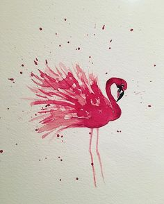 Got that Friday feeling #flamingo #art #handmade #painting #watercolour